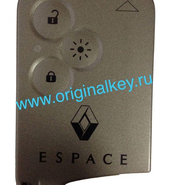 Чип карта для Renault Espace, 433Mhz, Keyless Go