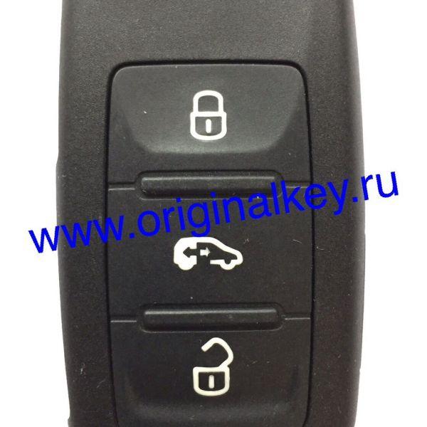 Ключ для автомобиля VW Multivan 2009-2015, Sharan 2010-2015, 4 кнопки