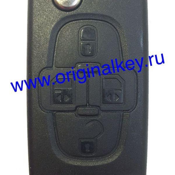 Ключ для Peugeot 807 2006-2009, PCF7941, HU83