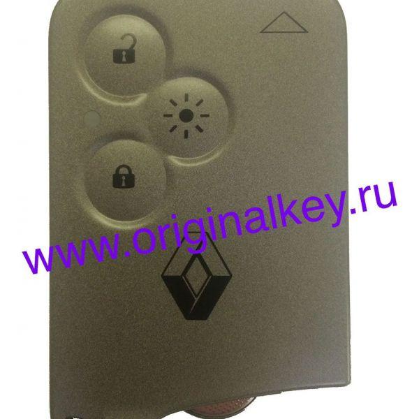 Ключ карта Renault Laguna 2001-2007, Vel Satis 2002-2007, Keyless Go, 433Mhz, PCF7936