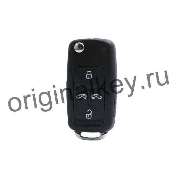 Ключ для автомобиля Volkswagen Multivan 2011-2016, Sharan 2011-2016, 5 кнопок