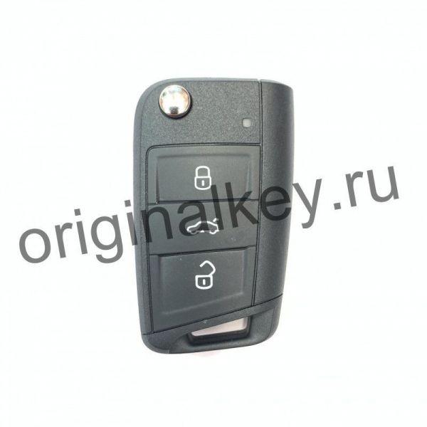 Ключ для SKODA SCALA, KAMIQ, RAPID. 434 Mhz, Hitag Pro, KeyLessGo