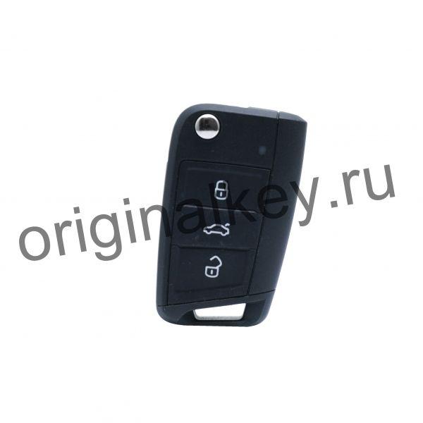 Ключ для Volkswagen Golf VII 2012-, Megamos AES