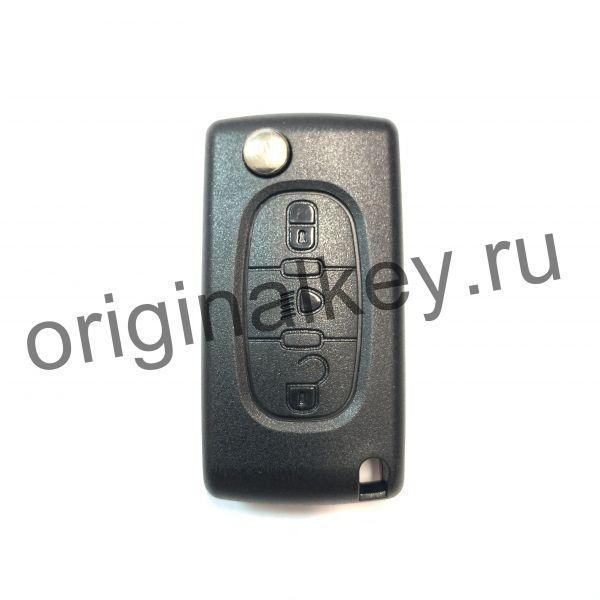 Корпус ключа для Peugeot, Citroen. Профиль VA2. 3-кнопки