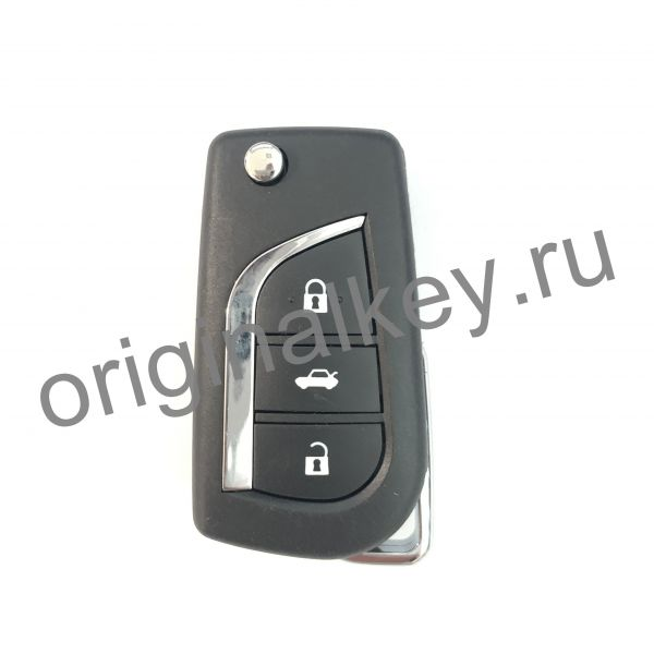 Корпус выкидного ключа Toyota 3-х кнопочный. TOY43