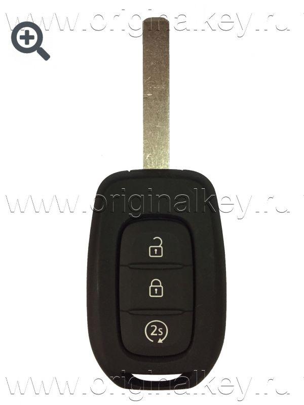 Ключ для Renault Kadjar 2015-, Megane 2016-, Autostart, HITAG AES