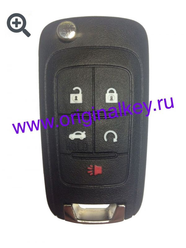 Ключ для Chevrolet Equinox 2010-, Camaro 2010-, Cruze 2011-, Impala 2014-, Malibu 2014-, Sonic 2014-, 315MHz