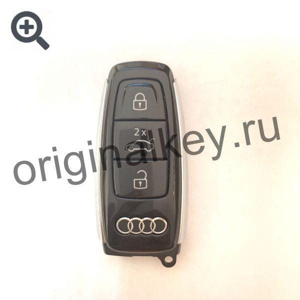Смарт ключ для Audi Q8 silver