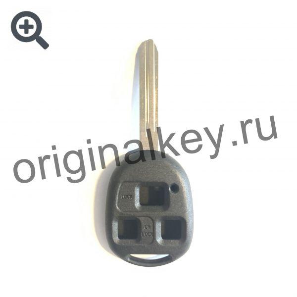 Усиленный корпус ключа для Toyota. 3-х кнопочный. Toy43